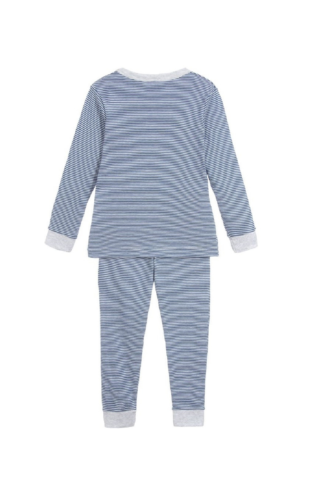 Petit Bateau Boys Pajamas - Milleraies striped knit - Front Full Image