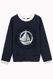 Petit Bateau  Girl Sweat Pure Cotton Shirt with Logo - Product Mini Image