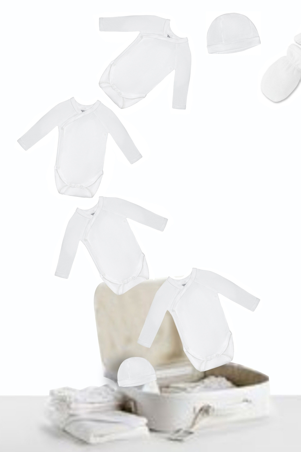 Petit Bateau  Infant bodysuits (onesies) for Girls and Boys with Bunnies   Little Loungers - Main Image