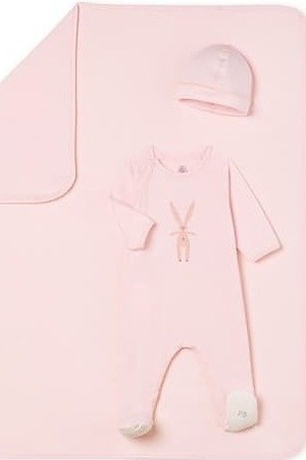 Petit Bateau Infant Footed Pajamas for Girls and Boys with Bunnies   Little Loungers - Main Image