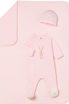 Shoptiques Product: Petit Bateau Infant Footed Pajamas for Girls and Boys with Bunnies | Little Loungers