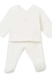 Petit Bateau PETIT BATEAU INFANT TWO PIECE BABY SET IN BRUSHED TOWELLING - Front cropped