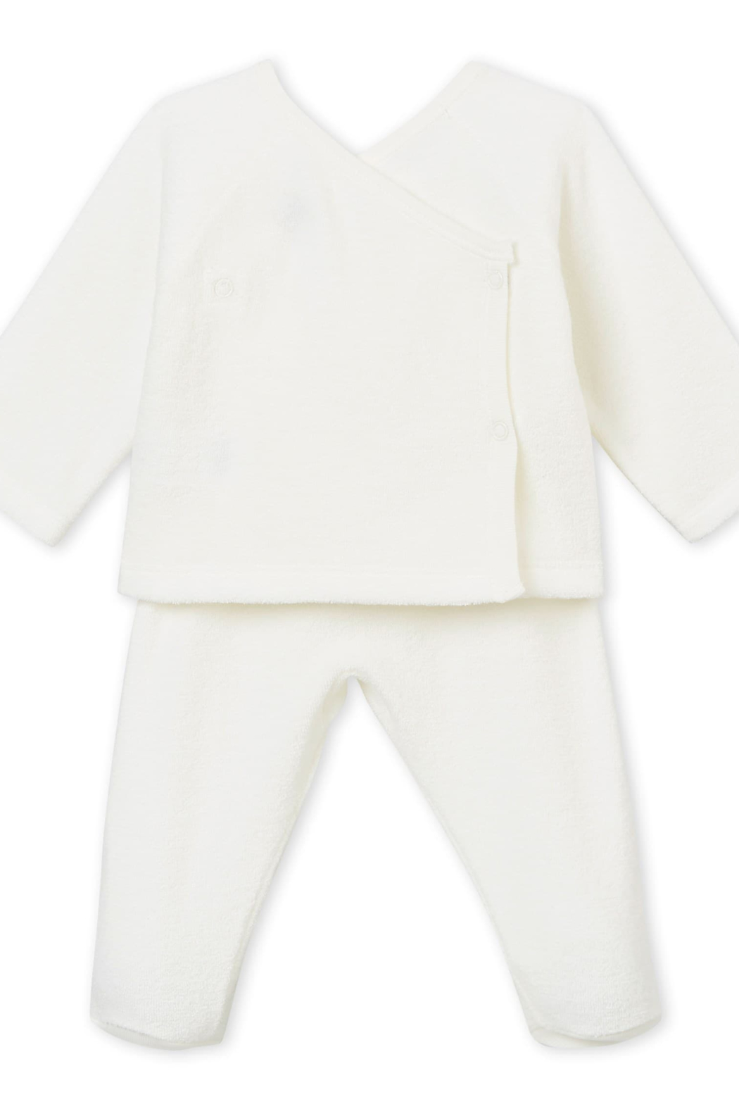 Petit Bateau PETIT BATEAU INFANT TWO PIECE BABY SET IN BRUSHED TOWELLING - Front Full Image