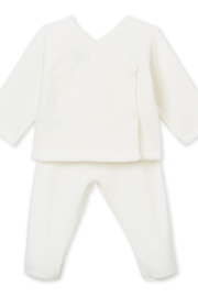 Petit Bateau PETIT BATEAU INFANT TWO PIECE BABY SET IN BRUSHED TOWELLING - Front full body