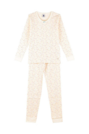 Petit Bateau Long Sleeve Multi Dots Top And Pants Lounge wear For Girls - Front cropped