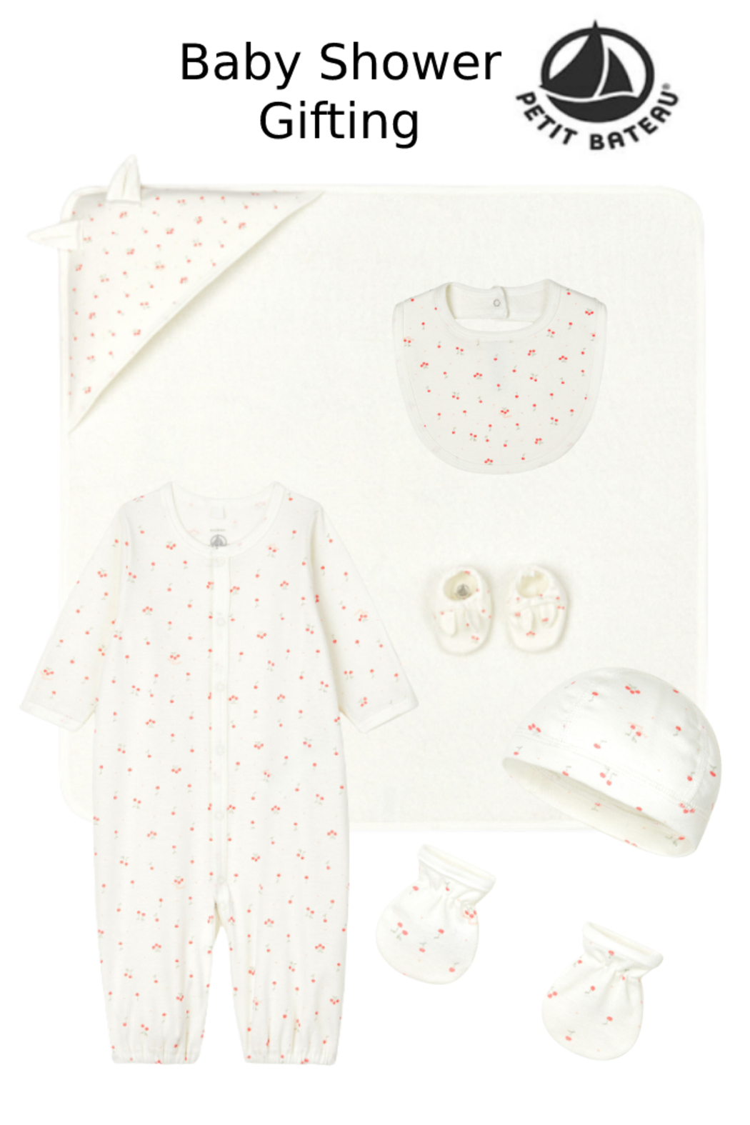 Petit Bateau  Organic Cotton Complete Newborn Baby Gift Set | Best Baby Shower Gifting - Front Cropped Image