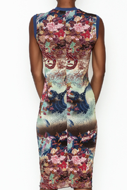 petit pois Printed Dress - Back cropped
