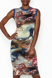 petit pois Printed Dress - Front cropped