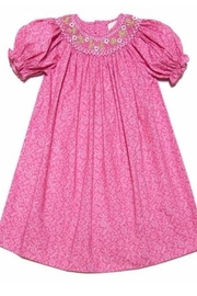 Petit Ami Smocked Bishop Dress - Product Mini Image