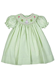 Petit Ami Smocked-Green-Birthday Dress - Front cropped