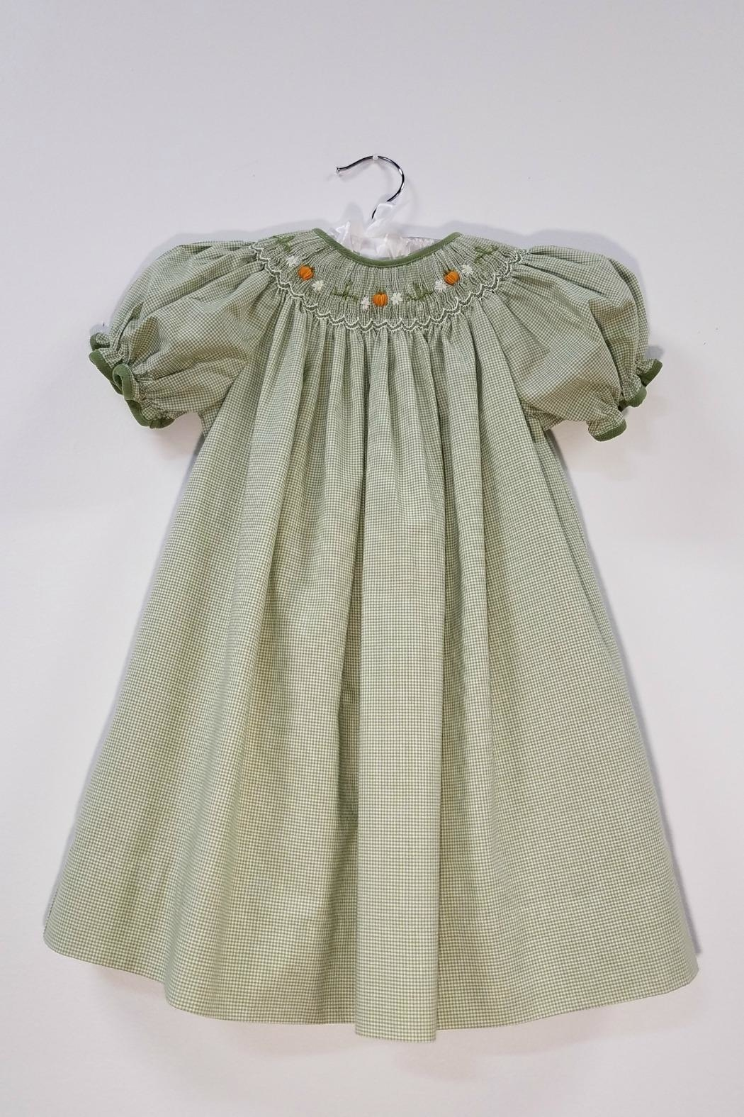 Petit Ami Smocked Pumpkin Dress - Main Image