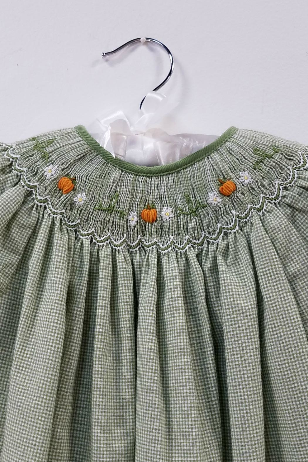 Petit Ami Smocked Pumpkin Dress - Side Cropped Image