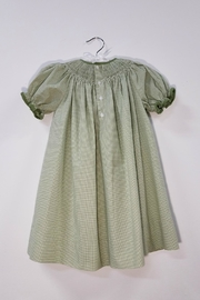 Petit Ami Smocked Pumpkin Dress - Front full body