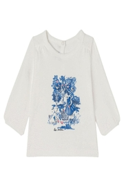 Petit Bateau White Graphic Tee - Front cropped