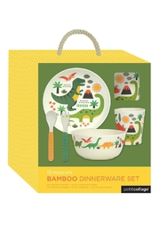 Petit Collage Dino Bamboo Dinnerware - Side cropped
