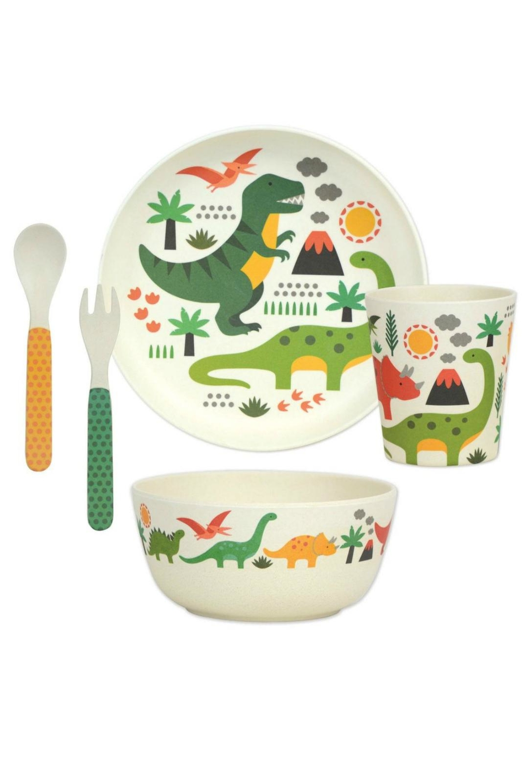 Petit Collage Dino Bamboo Dinnerware - Main Image