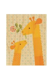Petit Collage Giraffe Wood Print - Front cropped