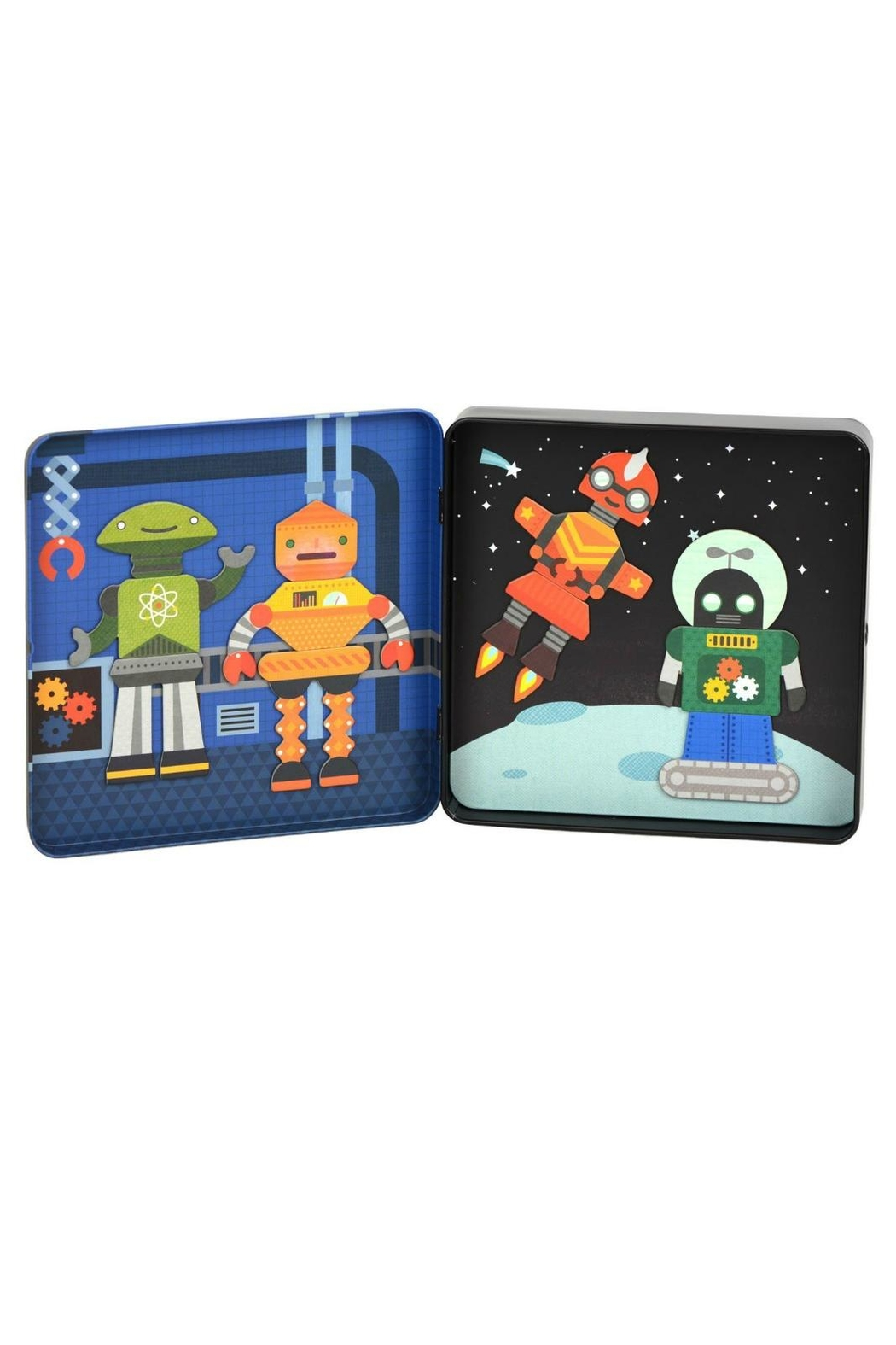 Petit Collage Robots Magnetic Playset - Front Full Image