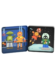 Petit Collage Robots Magnetic Playset - Front full body
