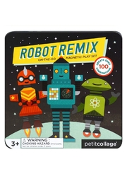 Petit Collage Robots Magnetic Playset - Front cropped