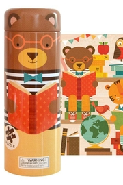 Petit Collage Teddy Puzzle Bank - Front cropped
