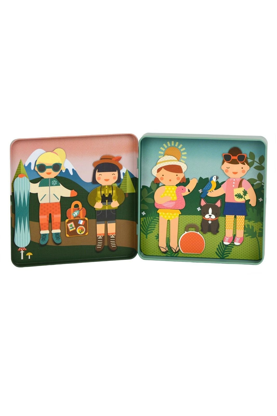 Petit Collage Travelers Magnetic Playset - Front Full Image