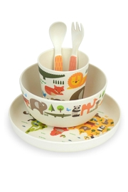 Petit Collage World Bamboo Dinnerware - Front full body