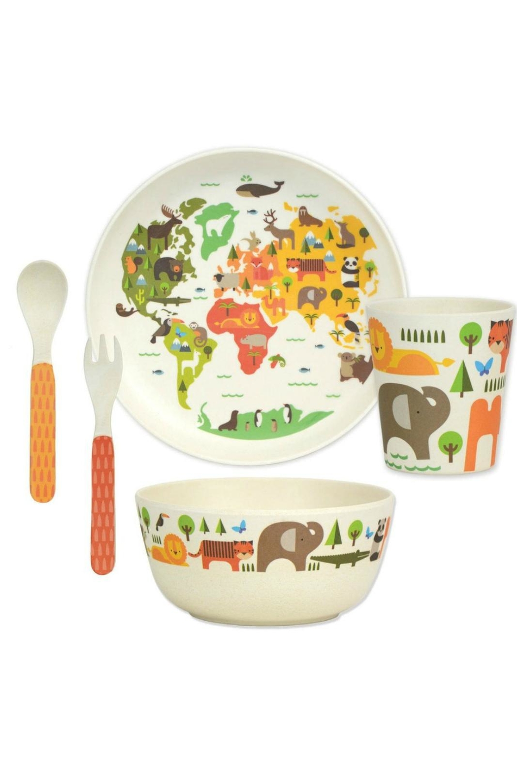 Petit Collage World Bamboo Dinnerware - Front Cropped Image
