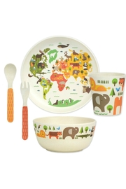 Petit Collage World Bamboo Dinnerware - Front cropped