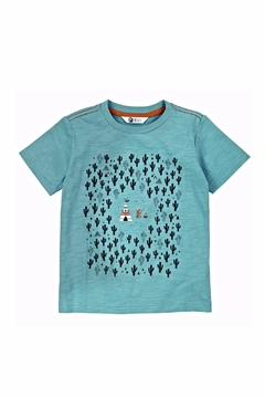 Petit Lem Teal Cactus Shirt Top - Alternate List Image
