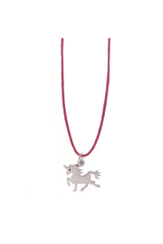 Bronwen Petite B Kids Unicorn Charm Necklace - Product Mini Image