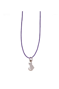 Bronwen Petite B Kitty Charm Necklace - Product List Image