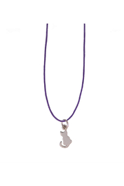 Bronwen Petite B Kitty Charm Necklace - Product Mini Image