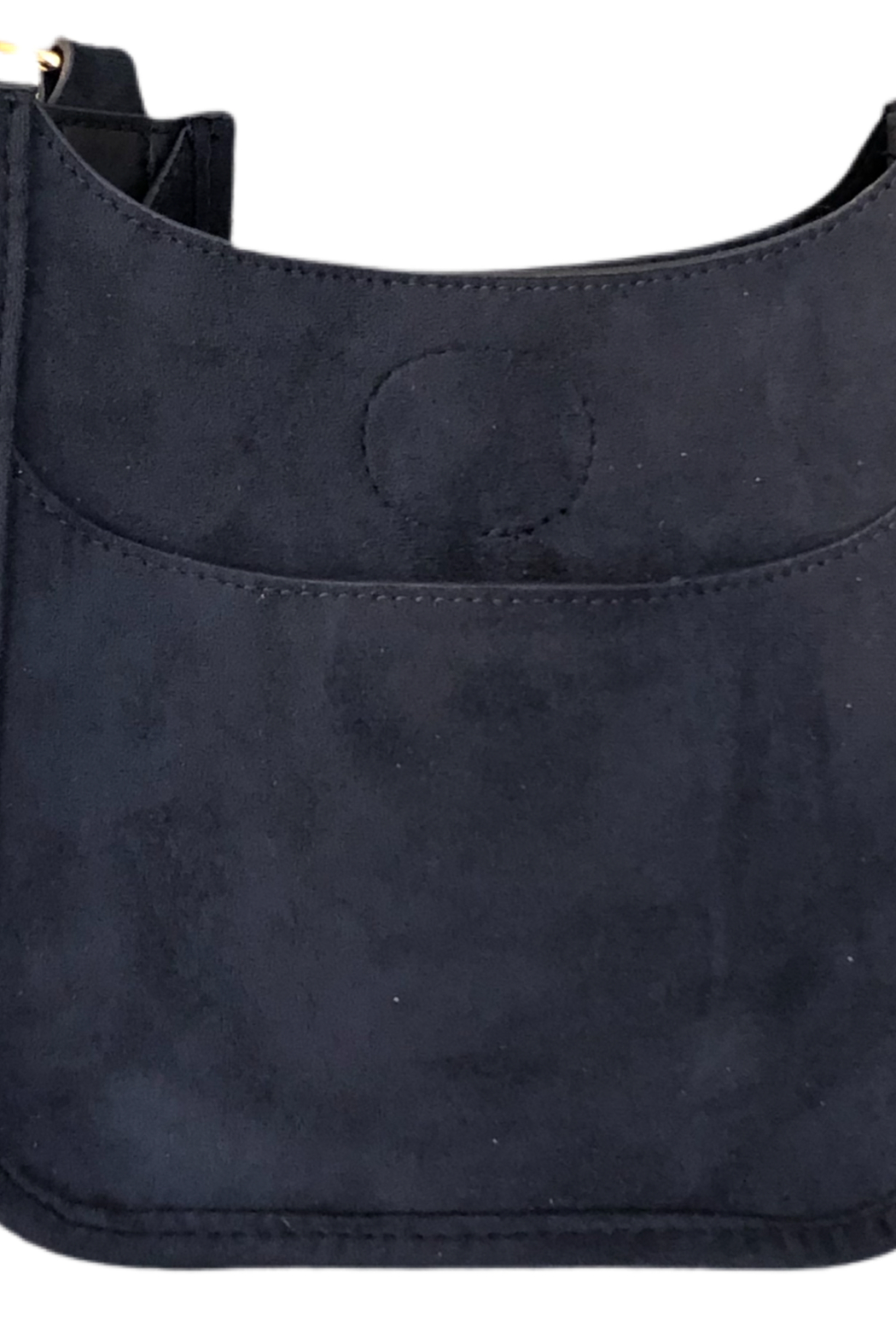 Ahdorned Petite Faux Suede Messenger Bag - Front Cropped Image