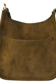 Ahdorned Petite Faux Suede Messenger Bag - Front cropped