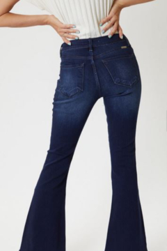Kan Can PETITE MID RISE FLARE JEANS - Product List Image