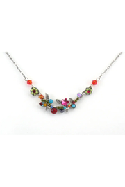 Firefly  Petite Scallop Flower Necklace - Multi - Product Mini Image