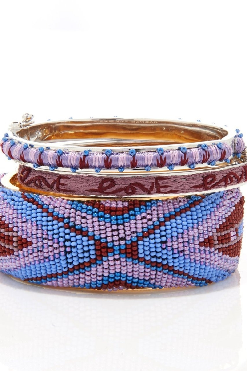 Mignonne Gavigan Petite Zadie Embroidered Bracelet - Front Full Image