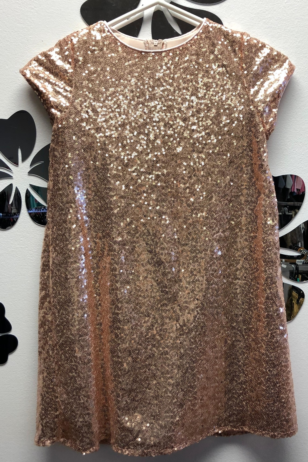 Petite Adele Sequence Dress - Side Cropped Image
