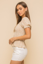 Hem and Thread Petra Smocked Top - Front full body