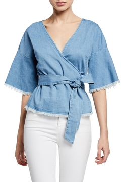 Cupcakes & Cashmere Petunia Chambray Blouse - Product List Image