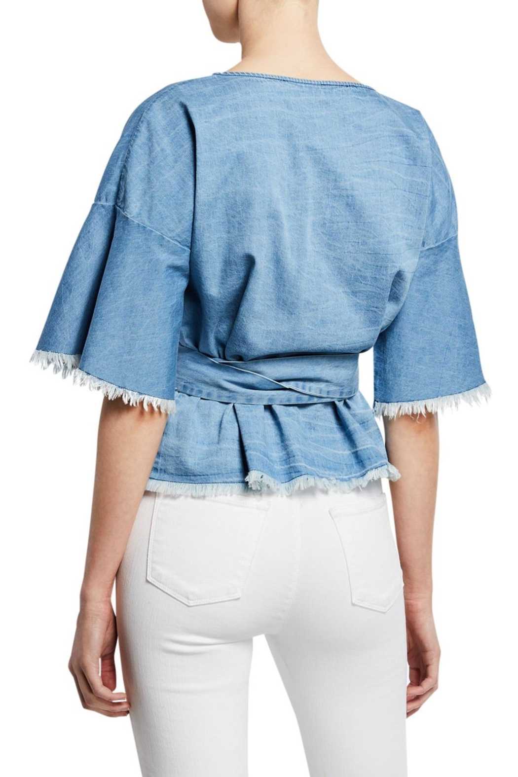 Cupcakes & Cashmere Petunia Chambray Blouse - Front Full Image