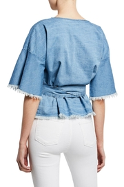 Cupcakes & Cashmere Petunia Chambray Blouse - Front full body