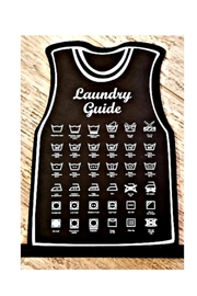 Petunias Laundry Guide Sign - Front cropped
