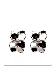 Petunias Orchid Earrings - Front cropped