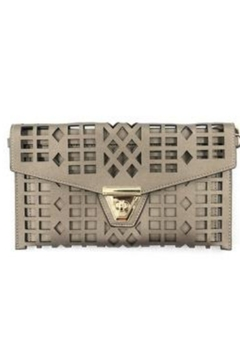 Allie & Chica Pewter Cutout Clutch - Alternate List Image