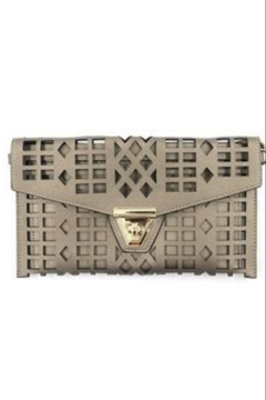Allie & Chica Pewter Cutout Clutch - Product List Image