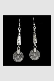 Chanour Pewter Earring 11 - Front cropped