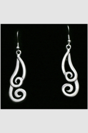 Chanour Pewter Earring 13 - Front cropped