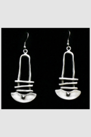 Chanour Pewter Earring 4 - Product Mini Image